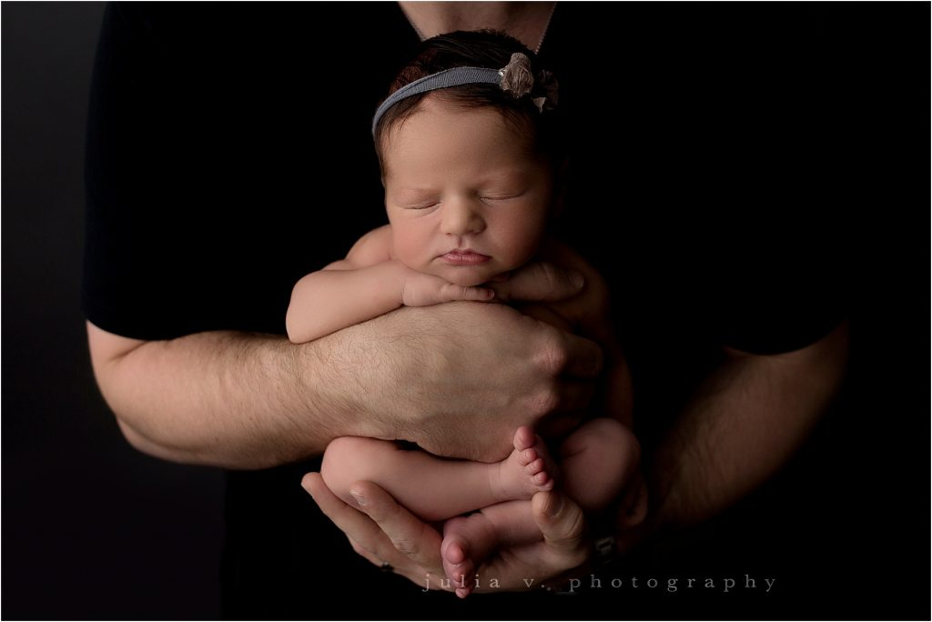 newborn and dad baby photography philadelphia