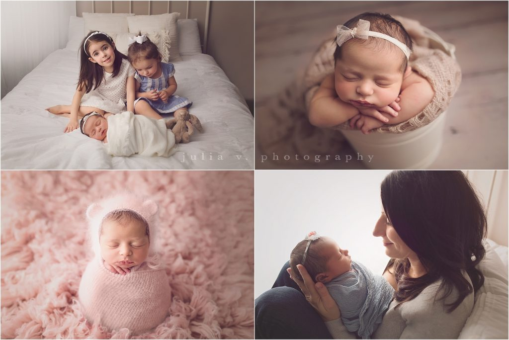 newborn photography Philadelphia baby and siblings