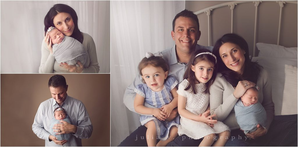 newborn portrait session with family philadelphia photographer